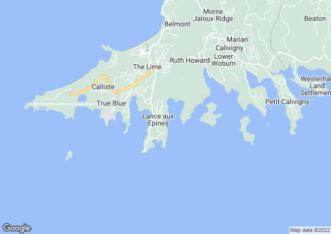 Map for Kingfisher Villa - Grenada, Lance aux Epines