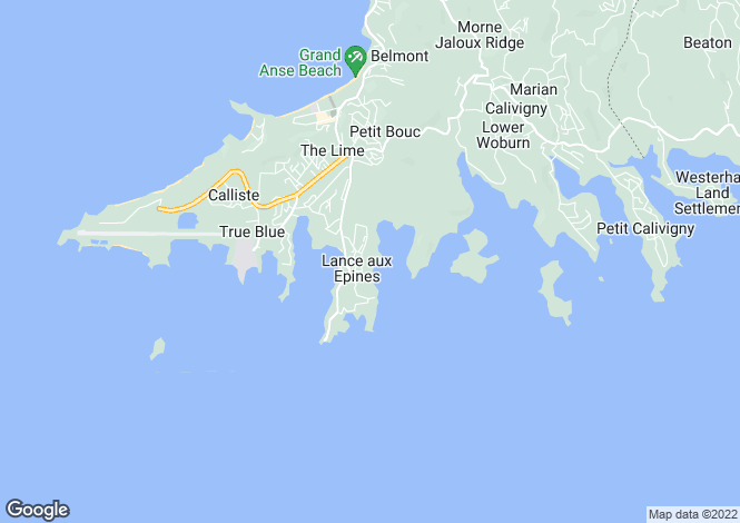 Map for Kingfisher Villa, Turtle Back Drive, L'Anse Aux Epines, St. George's