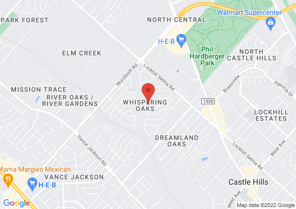 Map of 11219 Whisper Valley St, San Antonio, TX 78230, USA