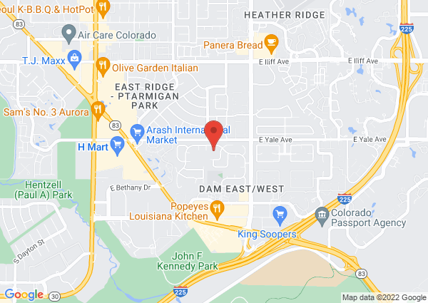 Map of 11700 East Yale Way, Aurora, CO 80014, USA