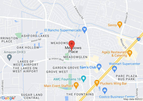 Map of 11975 Dorrance Lane, Meadows Place, TX 77477, United States