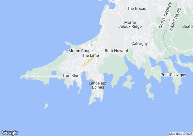Map for Lance Aux Epines House - Grenada, Lance aux Epines