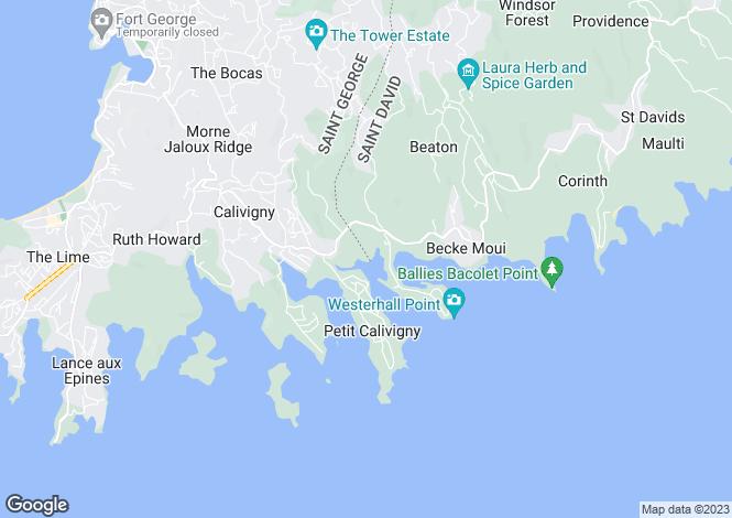 Map for Art Gallery Villa - Grenada, St. Davids