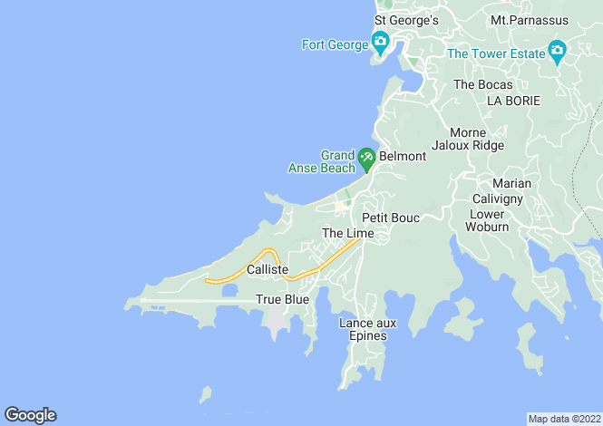 Map for Mount Cinnamon Luxury 4 Bed Villa - Grenada, Grand Anse Beach