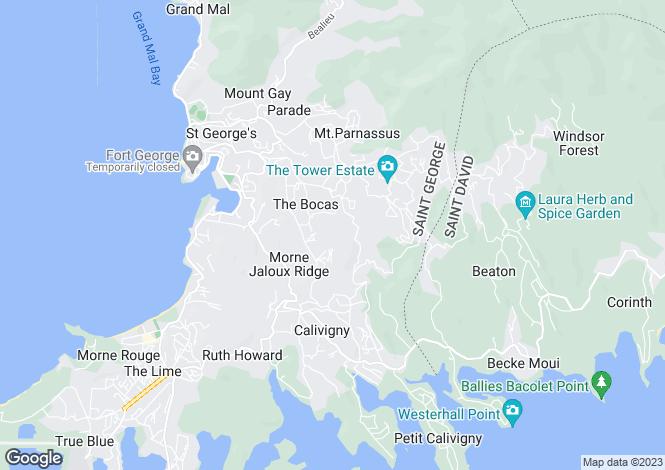 Map for Villa Stella, Westerhall Point, St. David's, Grenada
