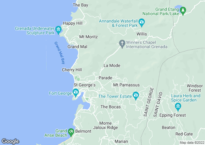 Map for The Gleam - Grenada, St. George