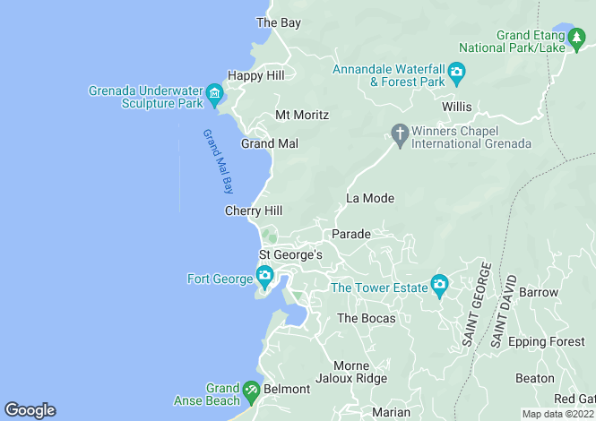 Map for The Gleam - Grenada, St. Georges