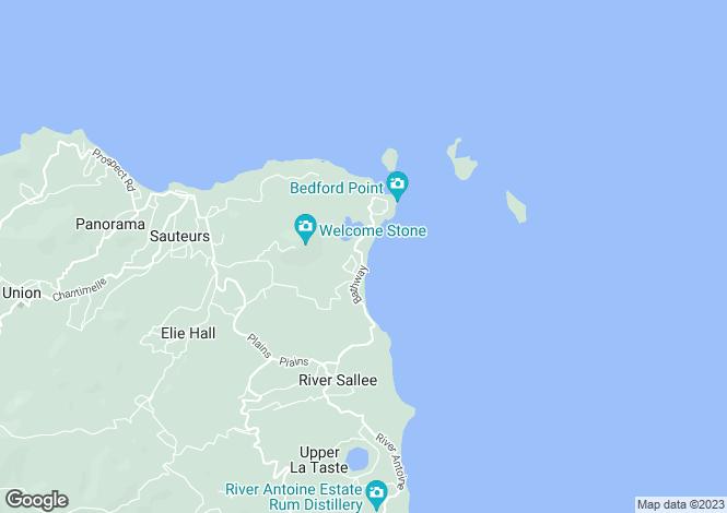 Map for St Patricks, Grenada