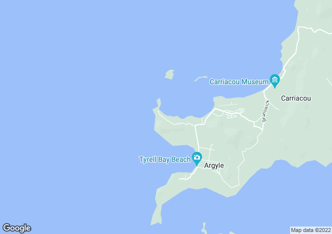 Map for Fiji Beachfront Land - L'Esterre Carriacou, Lesterre Bay