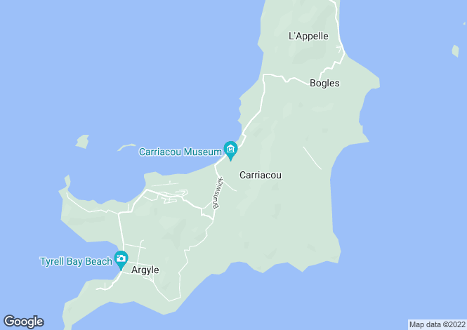 Map for Fiji Beach, L'Esterre, Carriacou, Grenada