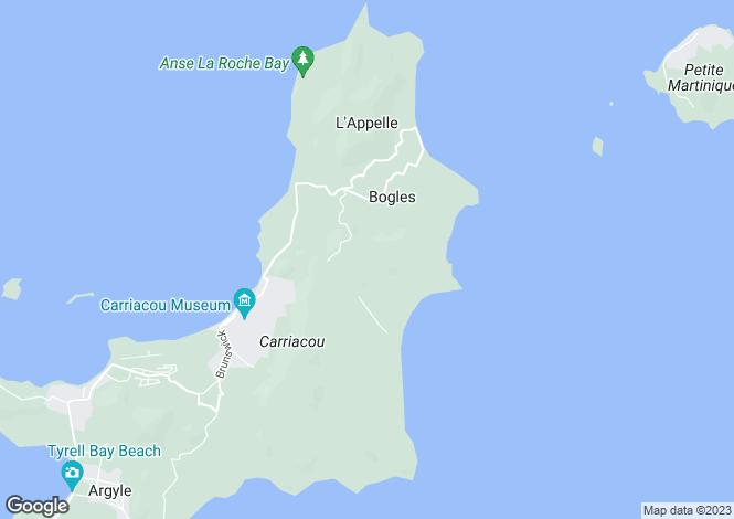 Map for Carriacou, Grenada