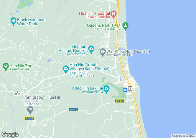 Map for Hua Hin