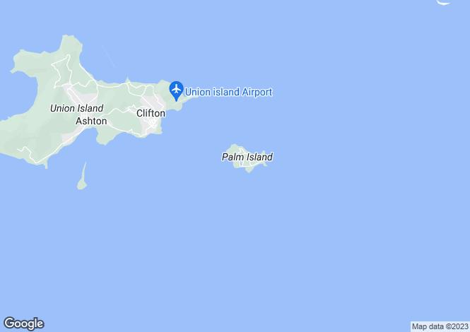 Map for Tamarind Villa, Palm Island, The Caribbean