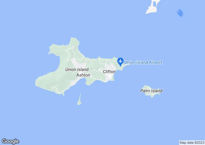 Map for Flamboyant Villa - Union Island, Union Island