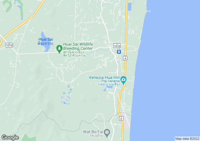 Map for South, Hua Hin, Thailand