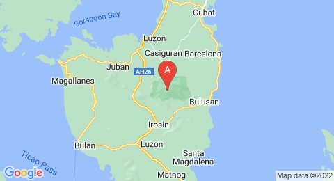 map of Mount Bulusan (Philippines)