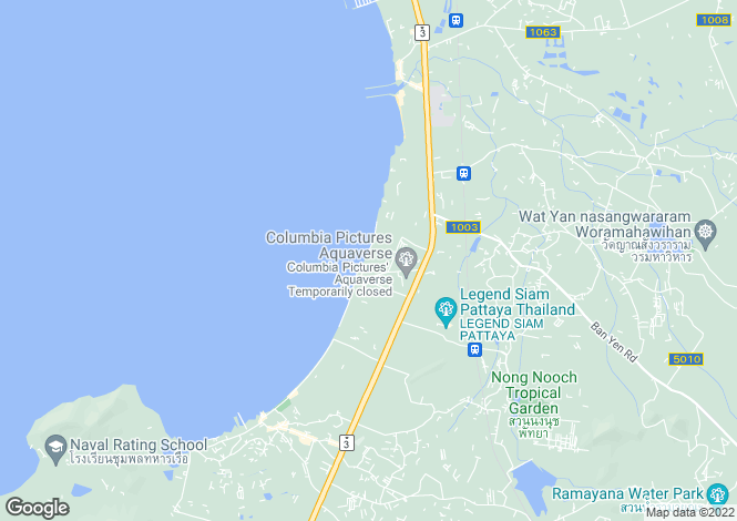 Map for Jomtien, Pattaya