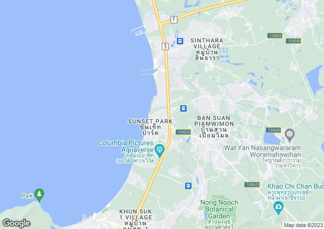Map for Sattahip, Pattaya