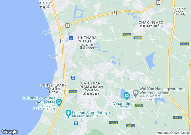 Map for Huai Yai, Pattaya