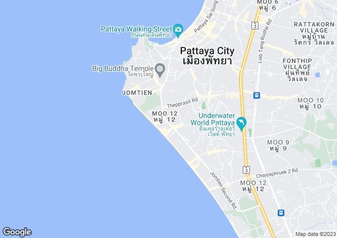 Map for Jomtien, Pattaya