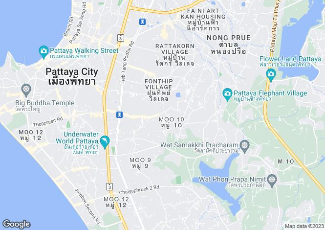 Map for Bang Lamung, Pattaya