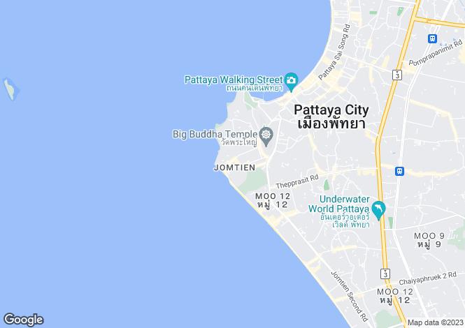 Map for Pratumnak Hill, Pattaya