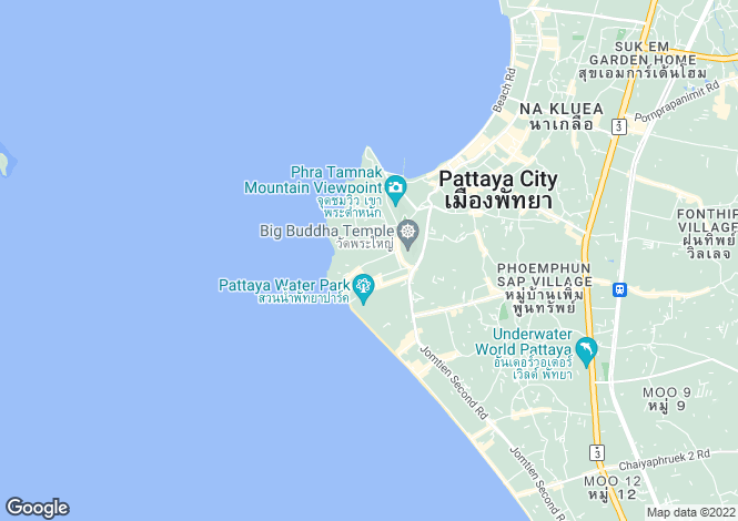 Map for Pattaya