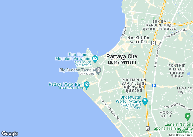 Map for Pratumnak Hill, Pattaya
