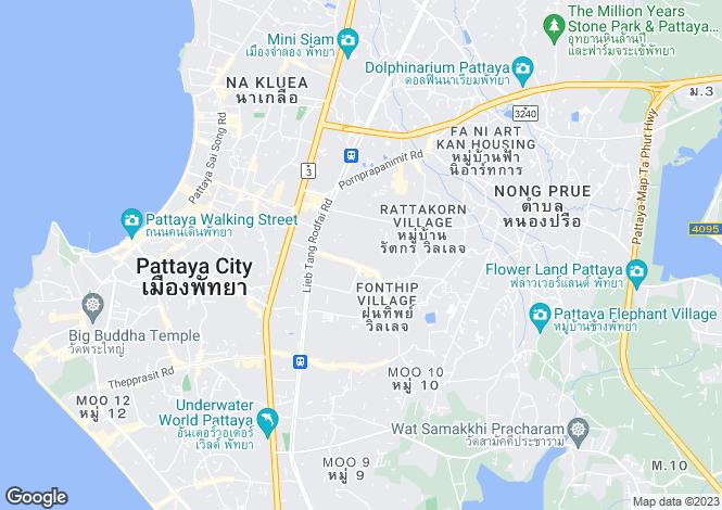 Map for Nong Prue, Pattaya