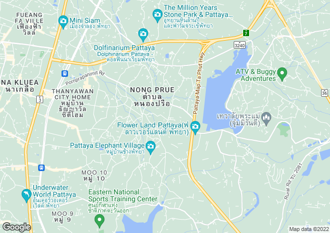 Map for Nong Prue, Pattaya