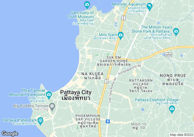 Map for Bang Lamung, Pattaya