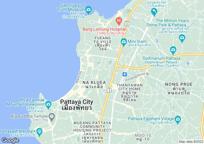 Map for Pattaya City, Pattaya