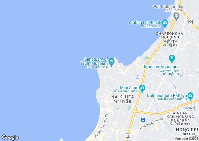 Map for Wong Amat, Pattaya