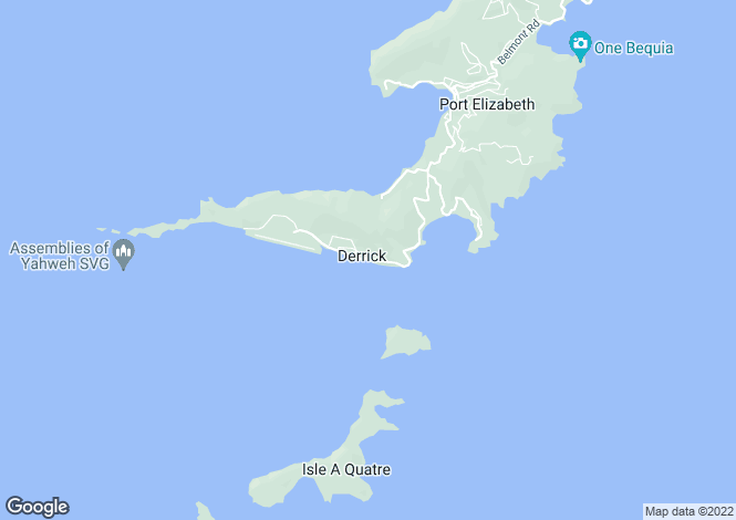 Map for Beachfront Land South Coast, Bequia South Coast