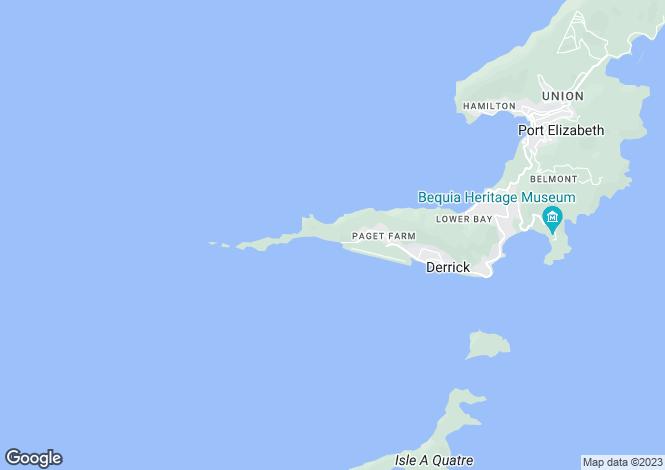 Map for Beachfront Land 1/2 acre plots - Bequia, Baie de Sucre