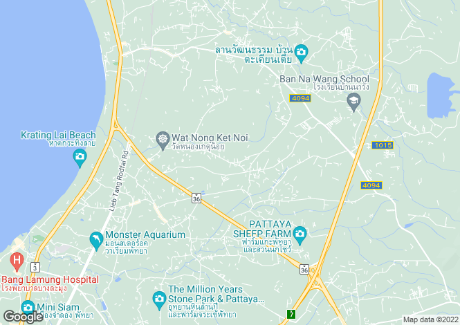 Map for Nong Pla Lai, Pattaya