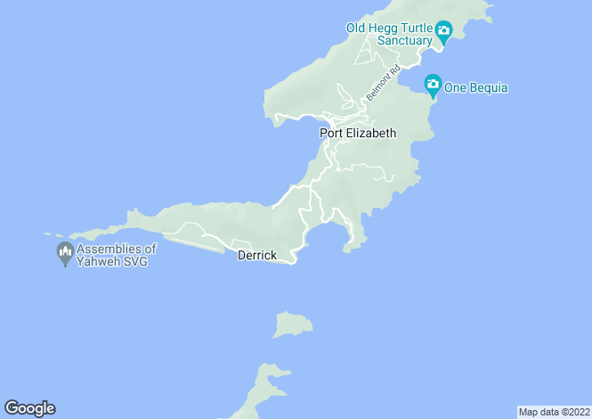 Map for Diamond Estate - Bequia, Friendship Hill