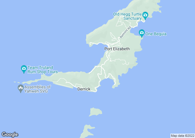 Map for Lower Bay Land with Views - Bequia, Lower Bay