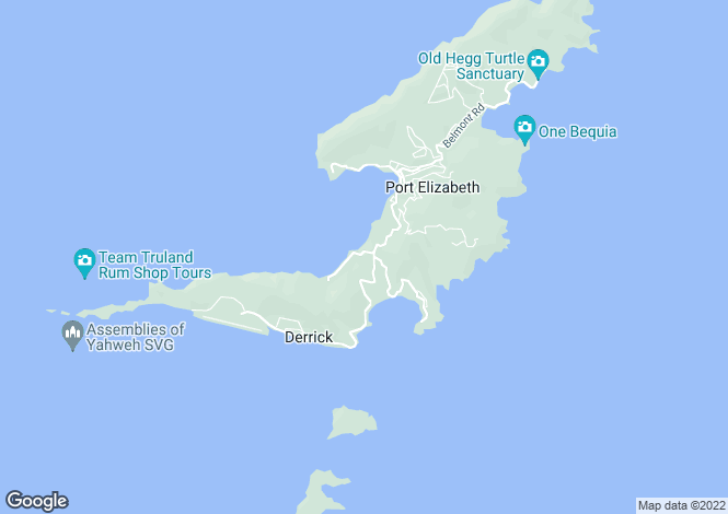 Map for Lulleybye House with Land - Bequia, Lower Bay
