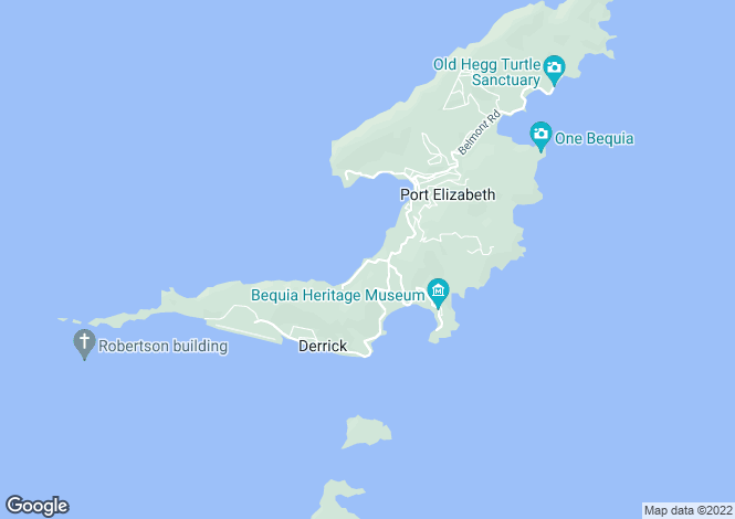 Map for King House - Bequia, Lower Bay