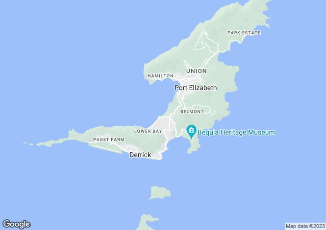 Map for Beachfront Princess Margaret Beach - Bequia, Princess Margaret