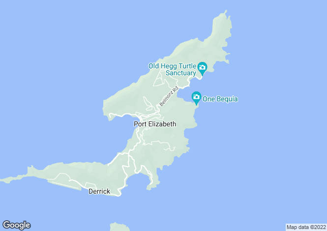 Map for Bequia, Spring