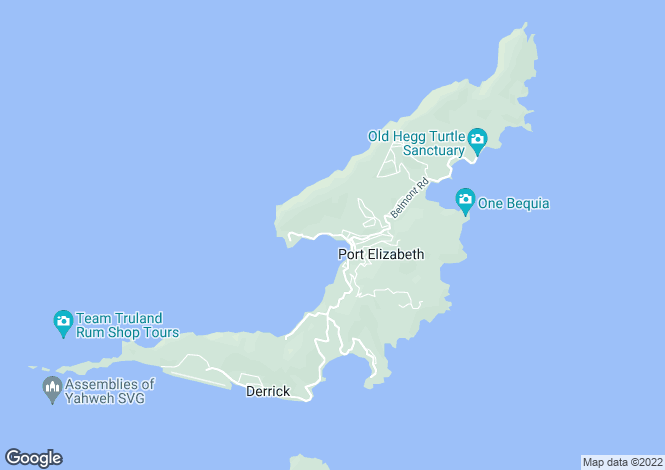 Map for Waterfront Ocar Beach - Bequia, Ocar