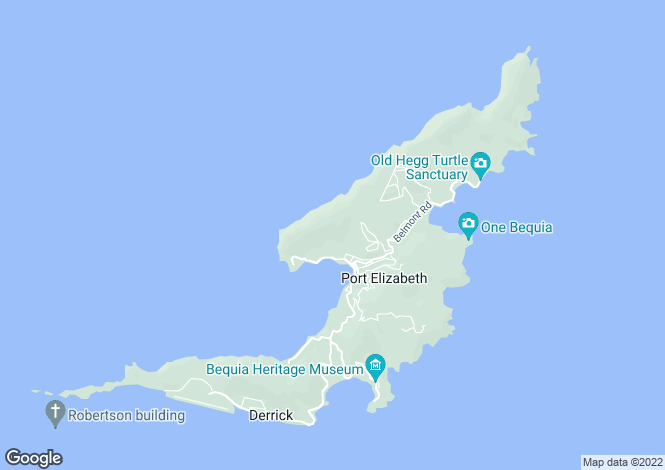 Map for Villa de la Reine & Land - Bequia, Ocar