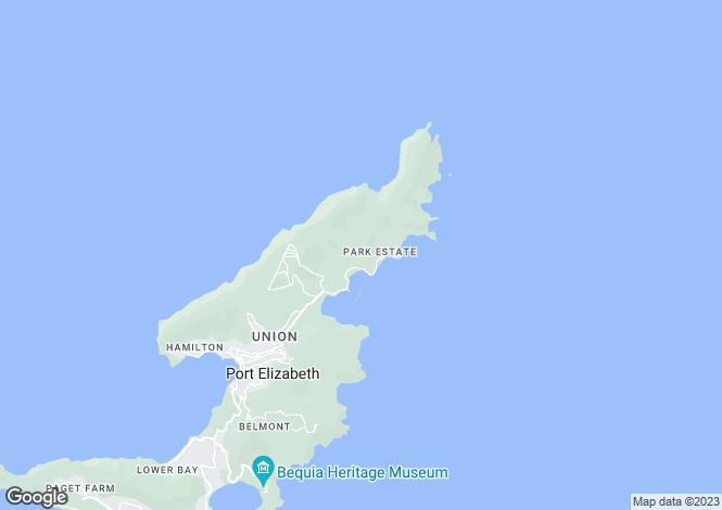 Map for Ocean Ridge 1.3 acres - Bequia, Crescent Bay