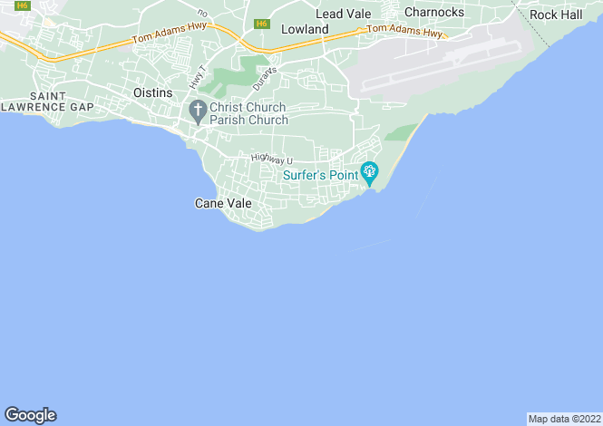 Map for Silver Sands Resort, Christchurch, Barbados