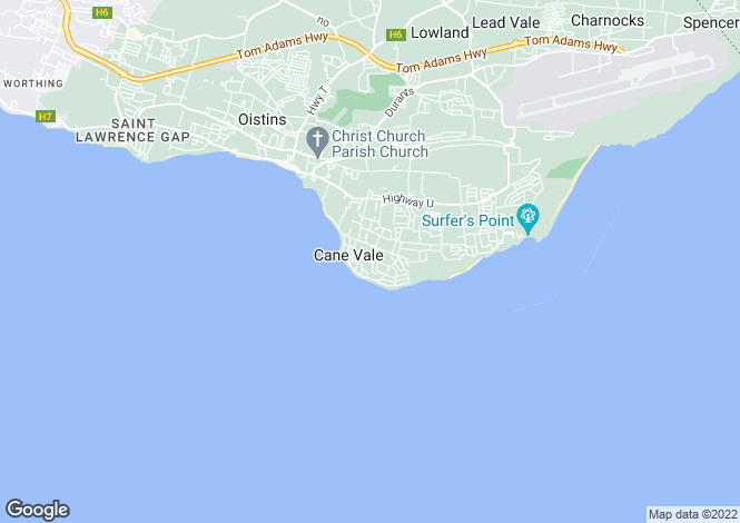 Map for Christ Church, Atlantic Shores