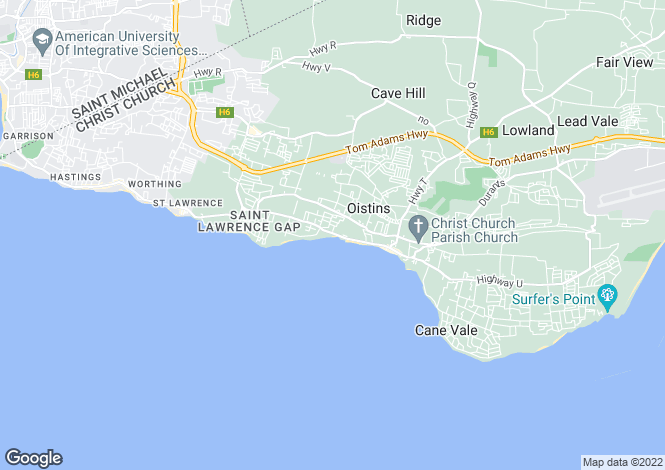 Map for Christ Church, Maxwell Coast