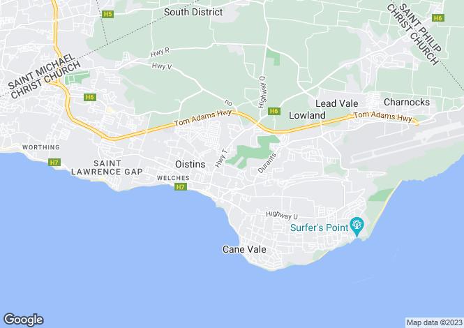 Map for El Sol Sureno 33, Durants, Christ Church, Barbados