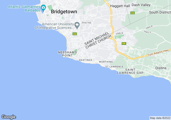 Map for Christ Church, Hastings
